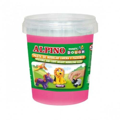 ALPINO DP000172. Bote de pasta modelar Magic Dough 160 gr rosa