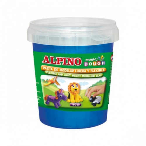 ALPINO DP000148. Bote de pasta modelar Magic Dough 160 gr azul