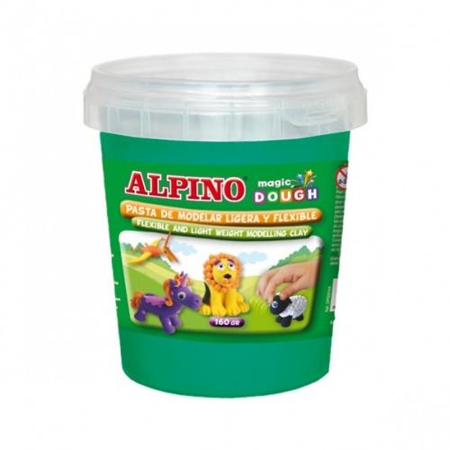 ALPINO DP000147. Bote de pasta modelar Magic Dough 160 gr verde