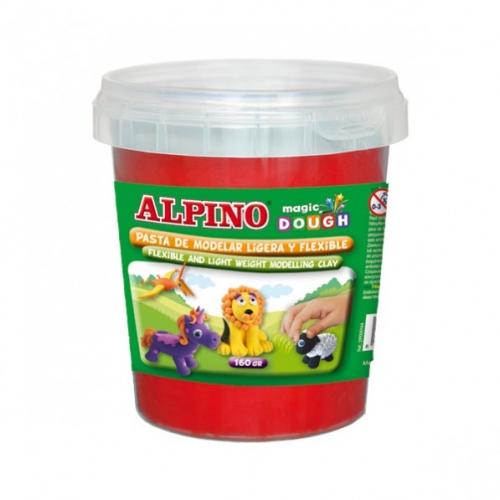 ALPINO DP000146. Bote de pasta modelar Magic Dough 160 gr rojo