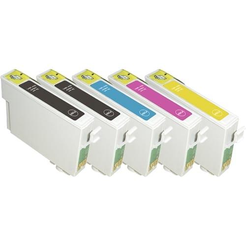 Iberjet E080P Pack 7 cartuchos de tinta compatibles, reemplaza a Epson (T0801 - T0802 - T0803 - T0804 - T0805 - T0806)