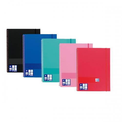 OXFORD 400118817 Carpeta 40 fundas tarifario A4+ de polipropileno con goma. Colores surtidos