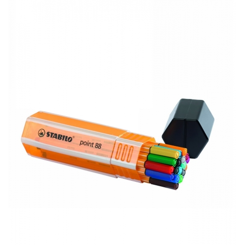 STABILO 8820-1. Estuche Big point Box 20 rotuladores Point 88 colores surtidos