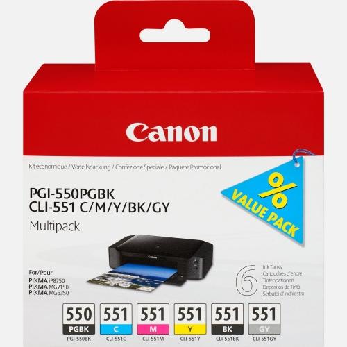 CANON Cartuchos Inyección PGI-550 + CLI-551 6496B005