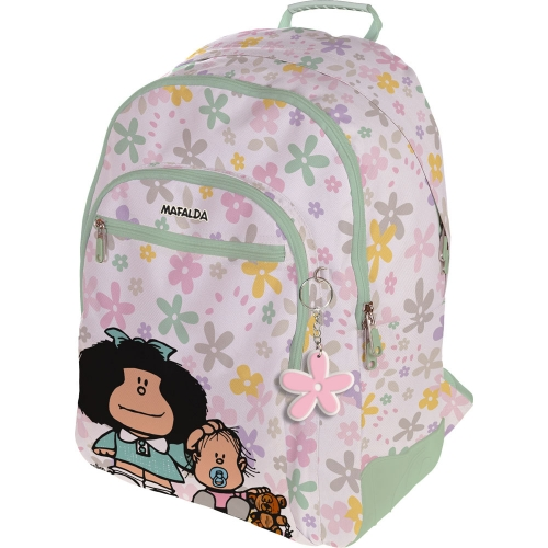 GRAFOPLAS 37500154. Mochila escolar Rubber Mafalda Flores