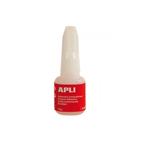 APLI 13677. Super adhesivo instantáneo 10 g con pincel aplicador