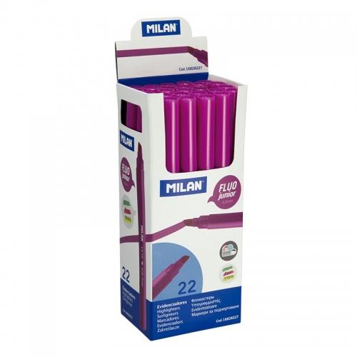 MILAN Fluo Junior Marcador fluorescente de punta biselada. Colores