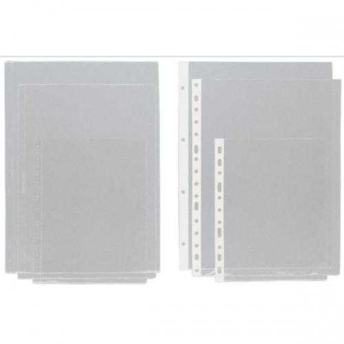 GRAFOPLÁS 05540004 Pack 10 fundas con 4 taladros de PVC transparente piel naranja 100 micras