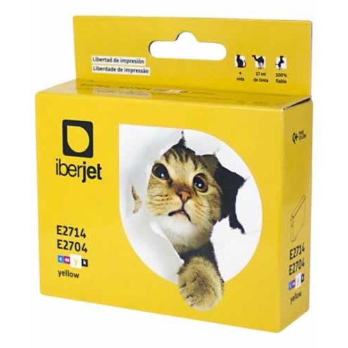 Iberjet E2714. Cartucho de tinta amarillo, reemplaza a Epson C13T27114010 nº 27XL / C13T27044010 nº 27