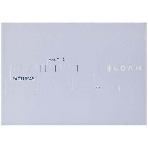 LOAN T-4. Talonario facturas 4º apaisado papel litos (21 x 15 cm.)