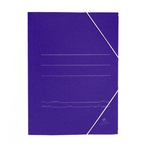 Mariola 1085AC. Carpeta de gomas 3 solapas folio color azul