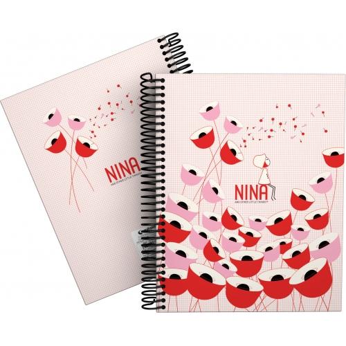 GRAFOPLAS 16511974. Cuaderno tapa dura A5 Nina Poppy