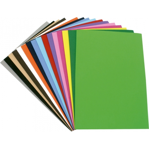 GRAFOPLAS 00036299. Pack 10 láminas de Goma Eva de 20 x 30 cm. Colores surtidos