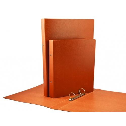 Mariola 5184N. Carpeta 4 anillas 25 mm de cartón gofrado cuero folio natural