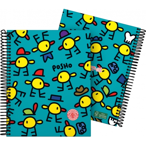 GRAFOPLAS 16511980. Cuaderno tapa dura A5 Katuki Saguyaki Poshos
