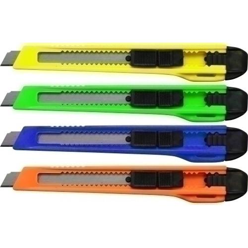 BISMARK 300684 Cutter con estructura de plástico 9 mm. Colores surtidos