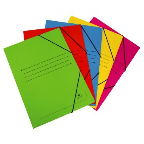 Mariola 1085RO. Carpeta de gomas 3 solapas folio color rojo