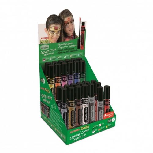 ALPINO DL000200. Expositor 24+2 tubos de maquillaje Liquid Liner colores surtidos