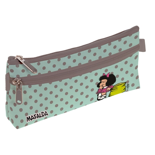 GRAFOPLAS 37540721. Estuche escolar portatodo simple Mafalda Dots