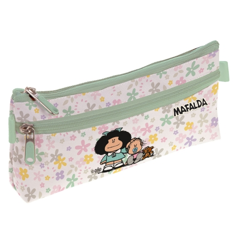 GRAFOPLAS 37540722. Estuche escolar portatodo simple Mafalda Flores