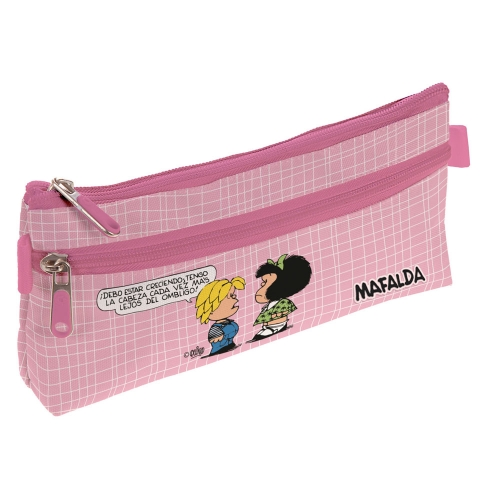 GRAFOPLAS 37540723. Estuche escolar portatodo simple Mafalda Belly Button