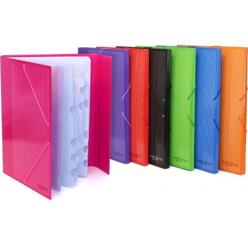 GRAFOPLÁS 82213120. Pack 2 clasificadores escolares Multiline color verde