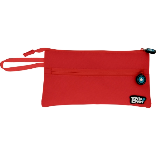 GRAFOPLAS 37543851. Estuche escolar portatodo Plano Bits&Bobs rojo