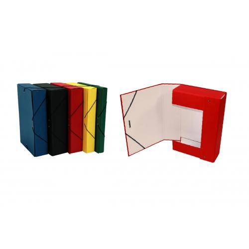 Mariola 207FRO. Carpeta de proyectos cierre gomas roja lomo 7 cm.