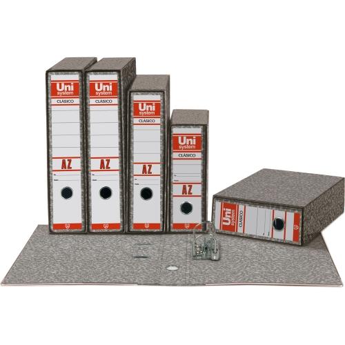 Unipapel 093579. Pack 12 archivadores de palanca formato folio con ranuras
