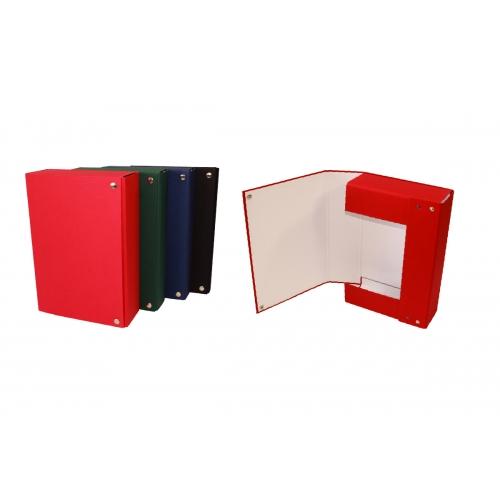 Mariola 207FBRO. Carpeta de proyectos cierre broches roja lomo 7 cm.