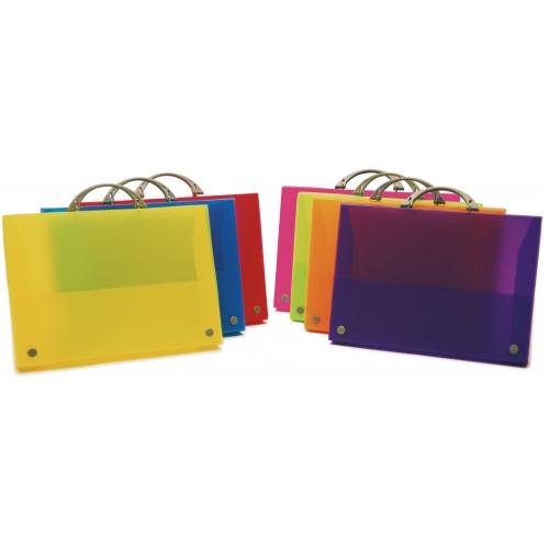 GRAFOPLÁS 30100551. Maletín Colorgraf de polipropileno translúcido color rojo