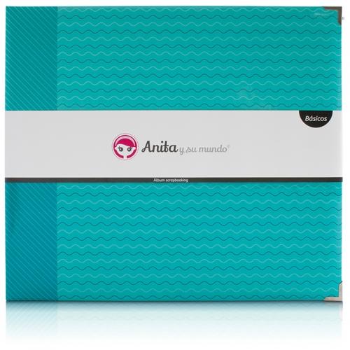 GRAFOPLAS 37054031. Álbum Scrapbooking espumado azul ondas de Anita y su mundo