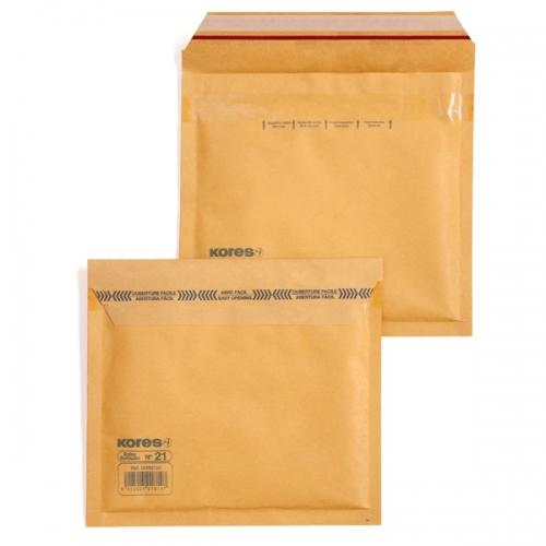 GRAFOPLÁS 00182100 Pack 10 bolsas burbujas de papel kraft 90 g FSC Nº 21 (CD) - 180X165 mm.