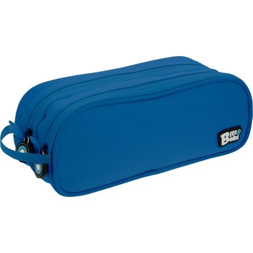 GRAFOPLAS 37543930. Estuche escolar portatodo Doble Bits&Bobs azul