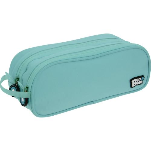 GRAFOPLAS 37543931. Estuche escolar portatodo Doble Bits&Bobs azul claro