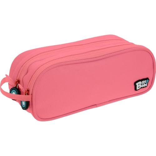 GRAFOPLAS 37543953. Estuche escolar portatodo Doble Bits&Bobs rosa claro