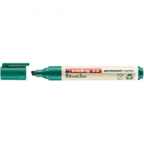 Edding 22004. EcoLine verde. Marcador permanente con punta biselada