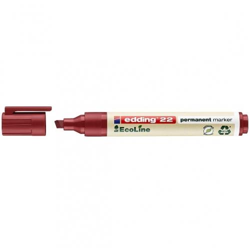 Edding 22002. EcoLine rojo. Marcador permanente con punta biselada