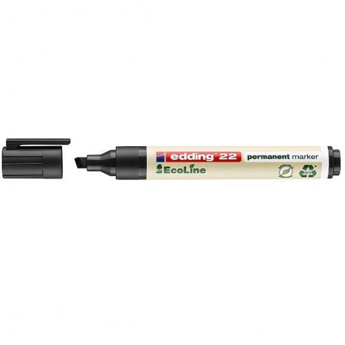 Edding 22001. EcoLine negro. Marcador permanente con punta biselada