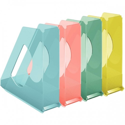 Esselte Revistero de plástico transparente Colour Ice