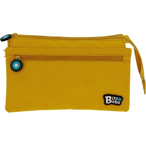 GRAFOPLAS 37543360. Estuche escolar portatodo cuádruple Bits & Bobs amarillo
