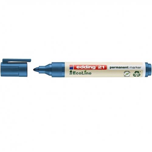 Edding 21003. EcoLine azul. Marcador permanente con punta redonda