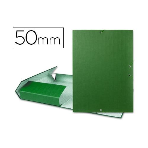 Liderpapel 25284. Carpeta de proyectos folio verde. Lomo 50 mm