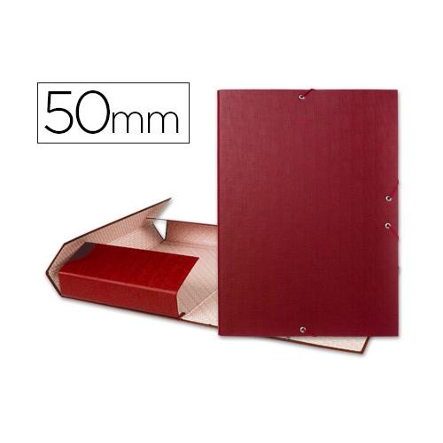 Liderpapel 25285. Carpeta de proyectos folio roja. Lomo 50 mm