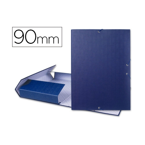 Liderpapel 25296. Carpeta de proyectos folio azul. Lomo 90 mm