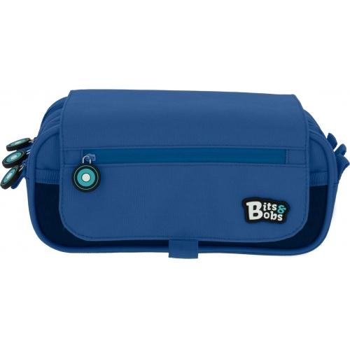 GRAFOPLAS 37543230. Estuche escolar portatodo triple Bits & Bobs azul