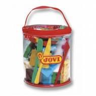 JOVI Bolsa con plastilina color rojo y accesorios - 340