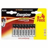 ENERGIZER Pack 8+4 pilas alcalinas Ultra+ LR03 (AAA) - 285581