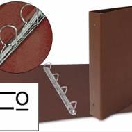 Liderpapel CH17. Carpeta de 4 anillas 40 mm mixtas folio carton cuero forrado