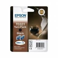 Epson T0321 Pack 2 cartuchos de tinta original negro C13T03214220